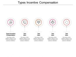 Types Incentive Compensation Ppt Powerpoint Presentation Introduction Cpb