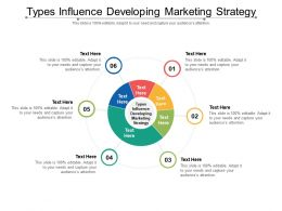 Types Influence Developing Marketing Strategy Ppt Powerpoint Presentation Styles Tips Cpb