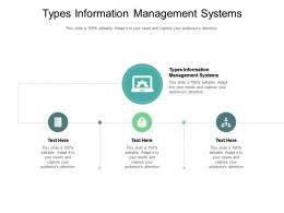 Types Information Management Systems Ppt Powerpoint Presentation Inspiration Brochure Cpb