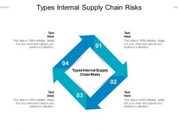 Types Internal Supply Chain Risks Ppt Powerpoint Presentation Portfolio Professional Cpb