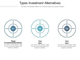 Types Investment Alternatives Ppt Powerpoint Presentation Professional Themes Cpb