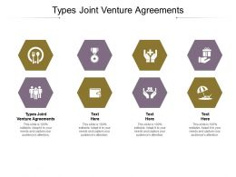 Types Joint Venture Agreements Ppt Powerpoint Presentation Outline Ideas Cpb