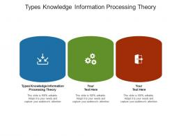 Types Knowledge Information Processing Theory Ppt Powerpoint Presentation Model Slide Portrait Cpb