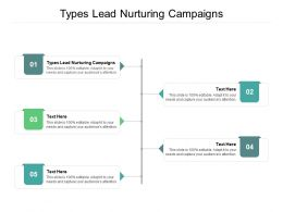 Types Lead Nurturing Campaigns Ppt Powerpoint Presentation Slides Structure Cpb