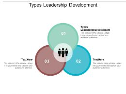 Types Leadership Development Ppt Powerpoint Presentation Infographic Template Background Cpb