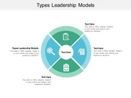 Types Leadership Models Ppt Powerpoint Presentation File Shapes Cpb