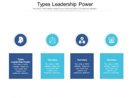 Types Leadership Power Ppt Powerpoint Presentation Inspiration Themes Cpb