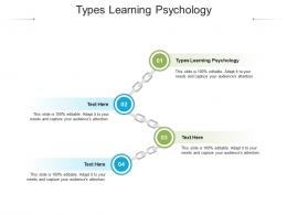 Types Learning Psychology Ppt Powerpoint Presentation Slides Information Cpb