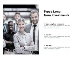 Types Long Term Investments Ppt Powerpoint Presentation Styles Templates Cpb