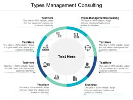 Types Management Consulting Ppt Powerpoint Presentation Icon Slide Download Cpb