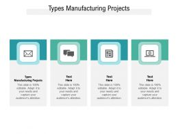 Types Manufacturing Projects Ppt Powerpoint Presentation Professional Graphics Example Cpb