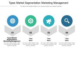 Types Market Segmentation Marketing Management Ppt Powerpoint Presentation Professional Cpb
