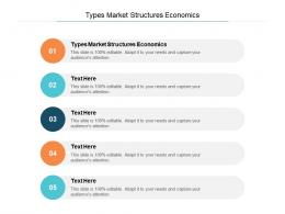Types Market Structures Economics Ppt Powerpoint Presentation Infographics Guidelines Cpb