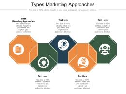 Types Marketing Approaches Ppt Powerpoint Presentation Show Maker Cpb