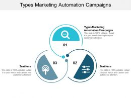 Types Marketing Automation Campaigns Ppt Powerpoint Presentation Summary Cpb