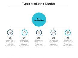 Types Marketing Metrics Ppt Powerpoint Presentation Professional Slideshow Cpb