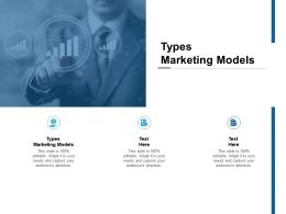 Types Marketing Models Ppt Powerpoint Presentation Pictures Ideas Cpb