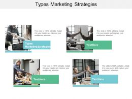 Types Marketing Strategies Ppt Powerpoint Presentation Pictures Templates Cpb