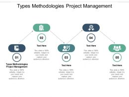 Types Methodologies Project Management Ppt Powerpoint Presentation Outline Infographic Template Cpb