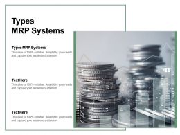 Types MRP Systems Ppt Powerpoint Presentation Show Infographic Template Cpb