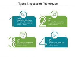 Types Negotiation Techniques Ppt Powerpoint Presentation File Diagrams Cpb