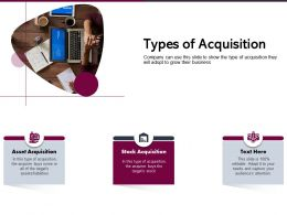 Types Of Acquisition Assets Liabilities Ppt Powerpoint Presentation Microsoft
