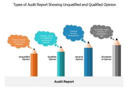 Types Of Audit Report Showing Unqualified And Qualified