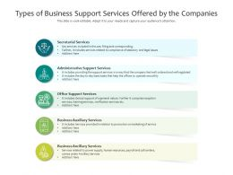 Types Of Business Support Services Offered By The Companies