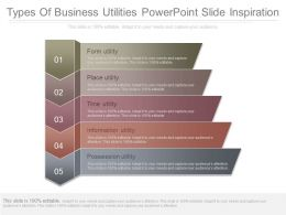 Types Of Business Utilities Powerpoint Slide Inspiration