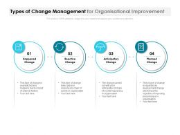 Types Of Change Management For Organisational Improvement
