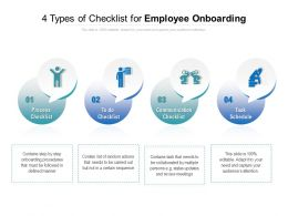 Types Of Checklist For Employee Onboarding