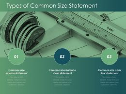 Types Of Common Size Statement Flow Statement Ppt Powerpoint Presentation Infographics Show
