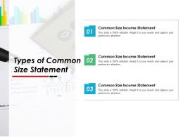Types Of Common Size Statement Income Ppt Powerpoint Presentation Ideas Icons