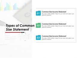 Types Of Common Size Statement Ppt Powerpoint Presentation Gallery Microsoft