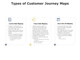 Types Of Customer Journey Maps Ppt Powerpoint Presentation Visual Aids Professional
