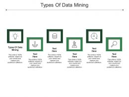 Types Of Data Mining Ppt Powerpoint Presentation Icon Design Inspiration Cpb