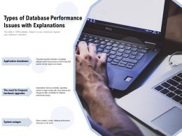 Types Of Database Performance Issues With Explanations