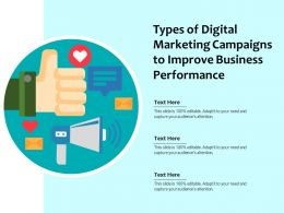 Types Of Digital Marketing Campaigns To Improve Business Performance