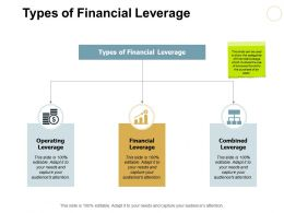 Types Of Financial Leverage Ppt Powerpoint Presentation File Design Ideas