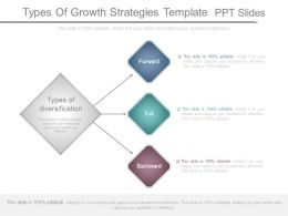Types Of Growth Strategies Template Ppt Slides