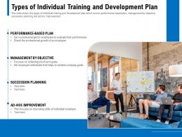 Types Of Individual Training And Development Plan