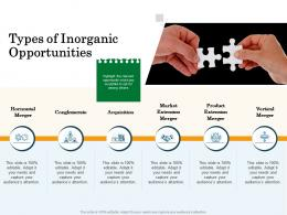 Types Of Inorganic Opportunities Inorganic Growth Management Ppt Microsoft