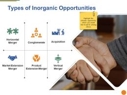 Types Of Inorganic Opportunities Ppt Backgrounds