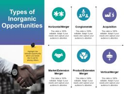 Types Of Inorganic Opportunities Ppt Deck