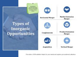 Types Of Inorganic Opportunities Ppt Gallery Show