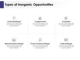 Types Of Inorganic Opportunities Ppt Powerpoint Presentation Infographics