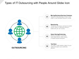 Types Of It Outsourcing With People Around Globe Icon