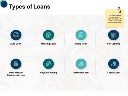 Types Of Loans Businesses Ppt Powerpoint Presentation Clipart