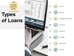 Types Of Loans Community Bank Overview Ppt Powerpoint Presentation Infographics Graphics