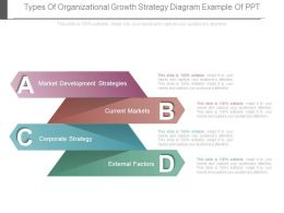 Types Of Organizational Growth Strategy Diagram Example Of Ppt